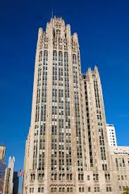 The tribune tower is now located on what was DuSable's property.